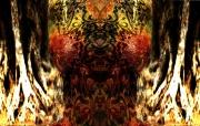 digital art fruits olive arabesque symetrie feminin : l'arabesque d'olive