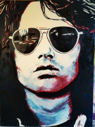 tableau personnages jim morrison jim morrison pop rock doors : Jim Morrison