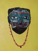 sculpture autres azteque teotihuacan funeraire malinaltepec : Masque Aztèque Malinaltepec