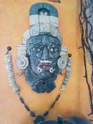sculpture autres maya máscara de jade calakmul campeche : Masque de Jade Campeche,Calakmul Reproduction