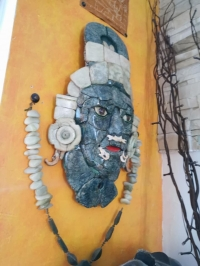 Máscara de jade de Calakmul ESTADO CAMPECHE
