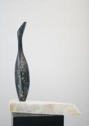 sculpture animaux totem oiseau cygne : Totem