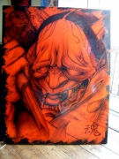 tableau autres demon japonais aerographe aurel aerographe : Démon