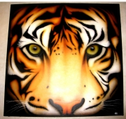 tableau animaux aurel aerographe tiger tigre aerograf : Tiger