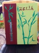 tableau fleurs bambou zen vase : Bambou Zelia