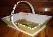 deco design fruits panier style nature vigne tournesol : Panier nature