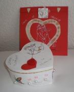 deco design autres boite mariage coeur romantique : Petite boîte à mariage