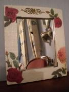 deco design fleurs miroir roses style romantique : Miroir romantique