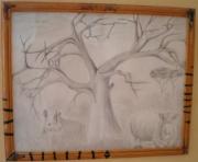 dessin paysages cadre ,a dessin crayon de bois savane : Cadre à dessin savane