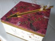 bois marqueterie autres boite mariage roses : Boîte à mariage