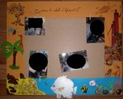 deco design paysages cadre ,a photo style africain orange : Cadre à photo africain