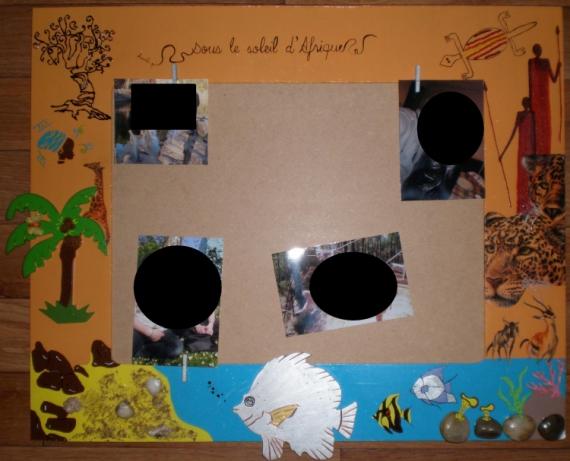 DéCO, DESIGN Cadre à photo Style africain orange Paysages  - Cadre à photo africain