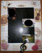 deco design personnages cadre ,a photo anges musiciens : Cadre à photo la clef des anges
