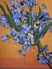 Les Iris copie de Van Gogh