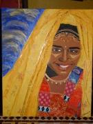 tableau : Jeune femme hindoue