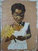 tableau : Petite fille à la fleur