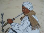 tableau : L'homme au narguilé