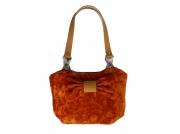 art textile mode : Sac orange pailleté velours