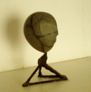sculpture personnages oeuf pierre art finesse : TETE
