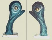 sculpture abstrait melange cabale oeil vert : la CABALE