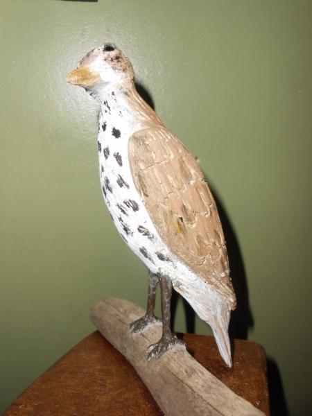 SCULPTURE oiseaux bois sculpture animaliere oiseaux sculpté Animaux Bois  - la grive