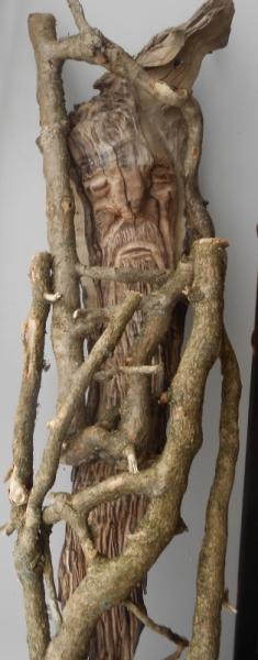 SCULPTURE merlin sculpture de merlin sculpture sur bois Personnages Bois  - la prison de Merlin