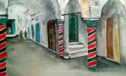 tableau paysages architecture souk tunis medina : le souk