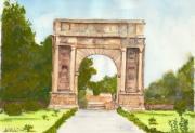 tableau architecture arc triomphe sbeitrla tunisie : sbeitla