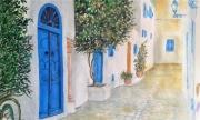 tableau paysages sidi boussaid rue porte : rue à sidi boussaid