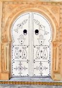tableau architecture : porte blanche