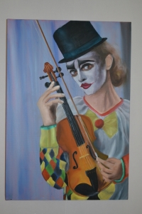 clown au violon