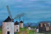 tableau paysages : les 5 moulins