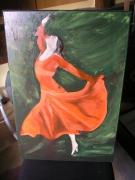tableau personnages : danseuse rouge