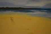 tableau autres plage couple promenade : balade