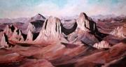 tableau paysages sahara paysage realisme : Plateau de l'assekrem-Tamenrasset
