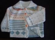 art textile mode : veste fait main 6 mois