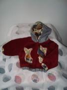 art textile mode blouson velours pied de poule coton : blouson à capuche 3-6  mois