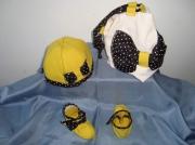 art textile mode feutre chapeau chaussons sac : cadeau de naissance