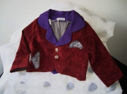 art textile mode veste velours bordeaux lin : veste 2 ans