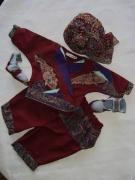 art textile mode : ensemble indien naissance 3 mois