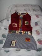art textile mode robe lapin pied de poule 6 mois : robe pour 3-6mois
