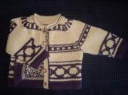art textile mode : veste  tricotée main pour bébé de 6 mois (68)