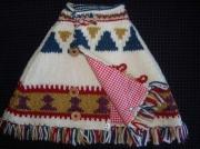 art textile mode : cape 6 mois tricotée