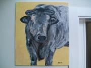 tableau animaux vache peinture animaux ferme : Bertha