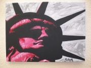 tableau abstrait amerique newyork monument liberty : miss liberty