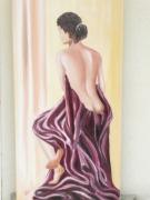 tableau personnages nu femme drape assis : le nu