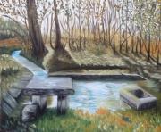 tableau paysages lavoir feuillade champniers charente : le lavoir de champniers