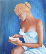 tableau personnages femme liseuse livre : la liseuse