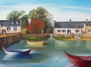 tableau paysages paysage bretagne mer bateau : la bretagne