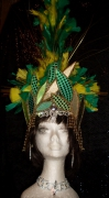 textile clothing : casque de carnaval